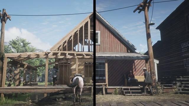 Un vídeo muestra los cambios de Red Dead Redemption 2 del paso del tiempo