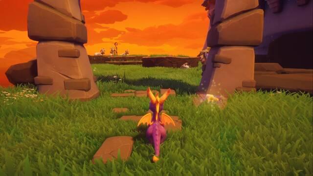 Tostado en Spyro 1 - Estatuas de dragón y cómo derrotar al jefe