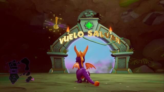 Vuelo salvaje en Spyro 1 - Cómo completar la contrarreloj al 100%