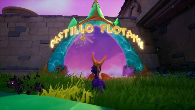 Castillo flotante en Spyro 1 - Estatuas de dragón y secretos