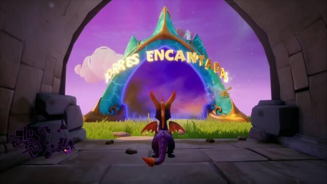Torre encantada en Spyro 1 - Estatuas de dragón y secretos