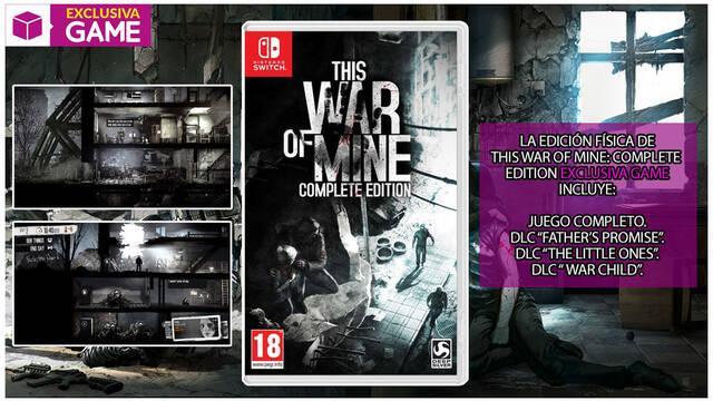 GAME detalla su edición físca exclusiva para This War of Mine en Switch