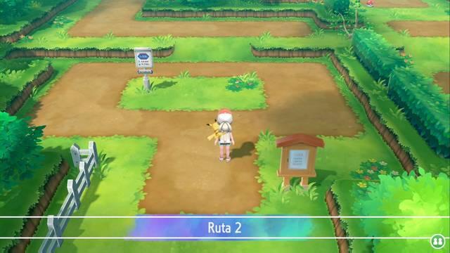 Ruta 2 en Pokémon Let's Go - Pokémon y secretos