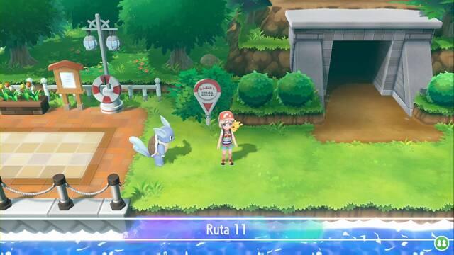 Ruta 11 en Pokémon Let's Go - Pokémon y secretos
