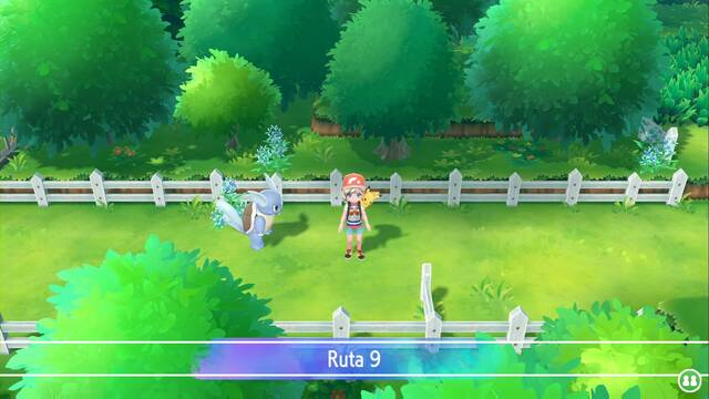 Ruta 9 en Pokémon Let's Go - Pokémon y secretos