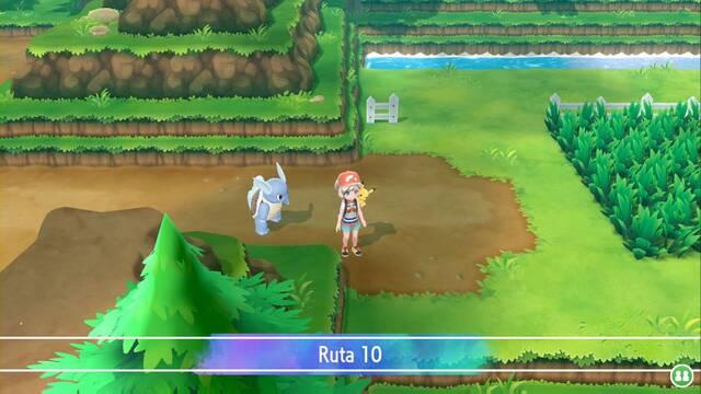 Ruta 10 en Pokémon Let's Go - Pokémon y secretos