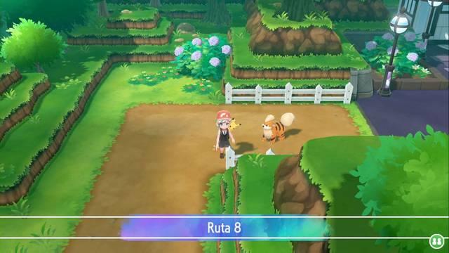 Ruta 8 en Pokémon Let's Go - Pokémon y secretos