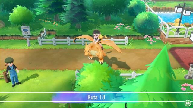 Ruta 18 en Pokémon Let's Go - Pokémon y secretos
