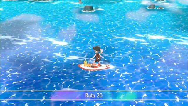 Ruta 20 en Pokémon Let's Go - Pokémon y secretos