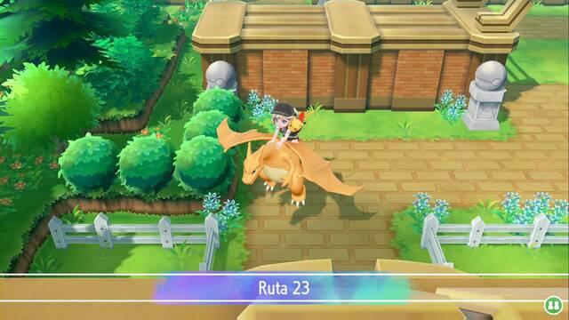 Ruta 23 en Pokémon Let's Go - Pokémon y secretos