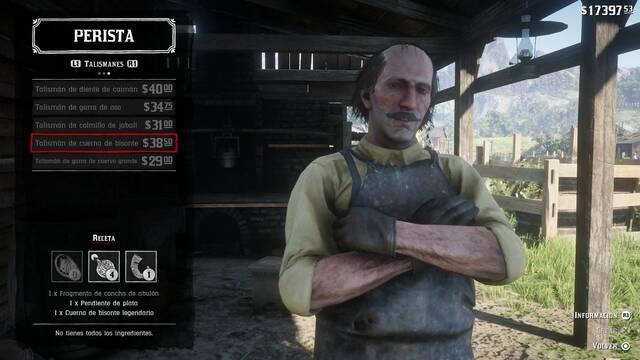 Red Dead Redemption 2: Los peristas - Abalorios, talismanes y cómo fabricarlos