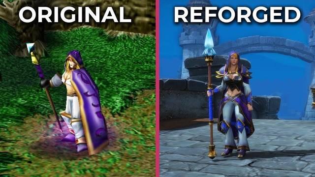 Comparan los gráficos de Warcraft III: Reforged con el juego original
