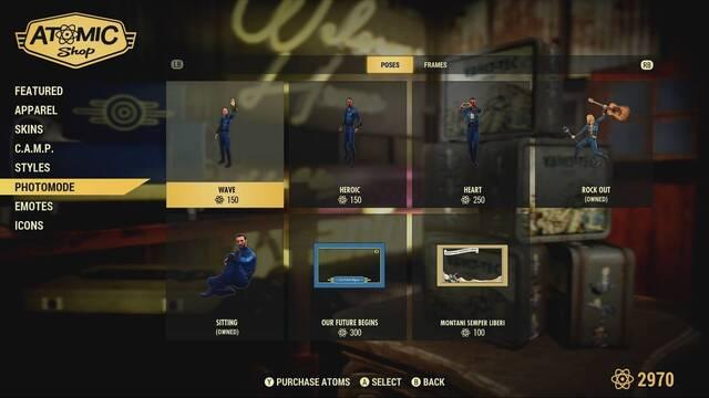 Así es la tienda atómica de Fallout 76, donde gastaremos nuestros átomos