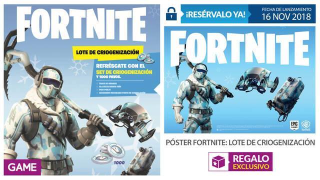 GAME detalla su incentivo por reserva para Fortnite: Lote de Criogenización