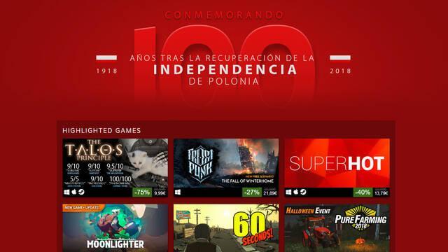 Steam dedica sus nuevas ofertas a los estudios polacos