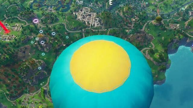 Atraviesa en paracaídas los círculos flotantes en Fortnite: Solución al desafío
