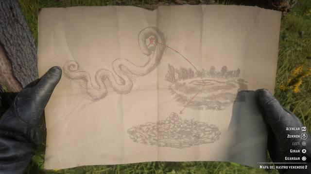Tesoro del rastro venenoso en Red Dead Redemption 2 - Cómo encontrarlo?