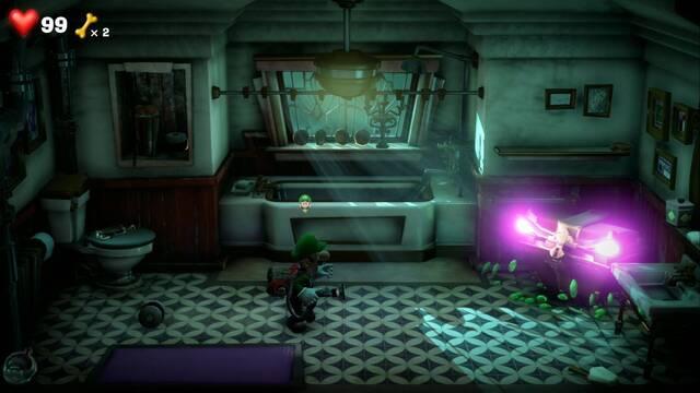 Cómo derrotar a las papeleras y cofres poseídos en Luigi's Mansion 3