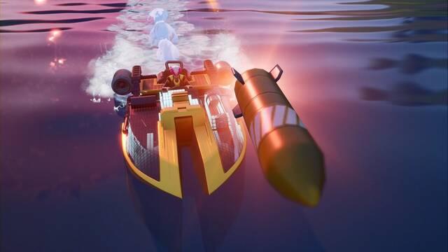Desafío Fortnite: Inflige daño a enemigos a lomos de una lancha motora