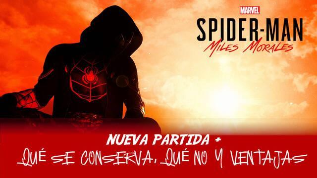 Nueva partida + en Spider-Man: Miles Morales - Cómo funciona y qué conservas