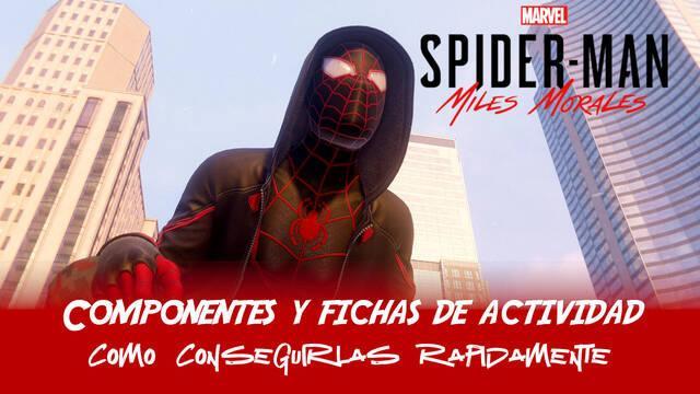 Cómo conseguir Componentes y Fichas de actividad en Spider-Man: Miles Morales