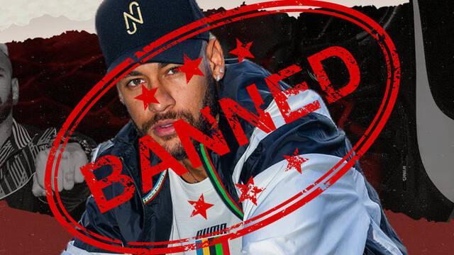 Neymar baneado de Twitch