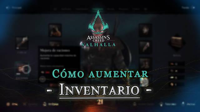 Assassin's Creed Valhalla: Cómo aumentar el inventario