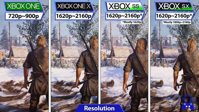 Assassins Creed Valhalla Comparativa Xbox
