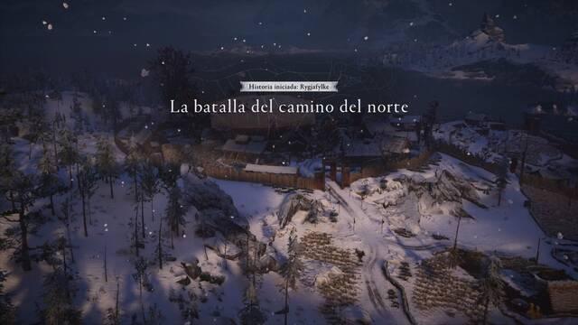La batalla del camino del norte al 100% en Assassin's Creed Valhalla