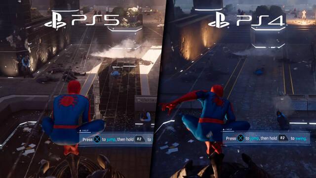 Spider-Man Remastered comparación PS5 y PS4