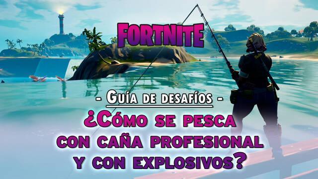 Fortnite: pesca peces con caña profesional y explosivos - SOLUCIÓN