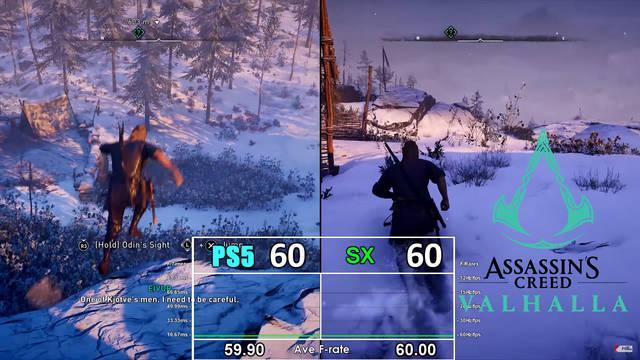 Assasssin's Creed Valhalla comparativa PS5 Xbox SEries X