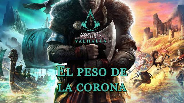 El peso de la corona al 100% en Assassin's Creed Valhalla