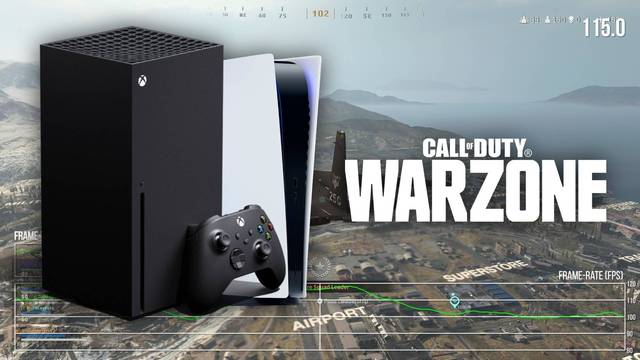 Call of Duty: Warzone se actualiza para funcionar a 120 fps en Xbox Series X, pero no en PS5.