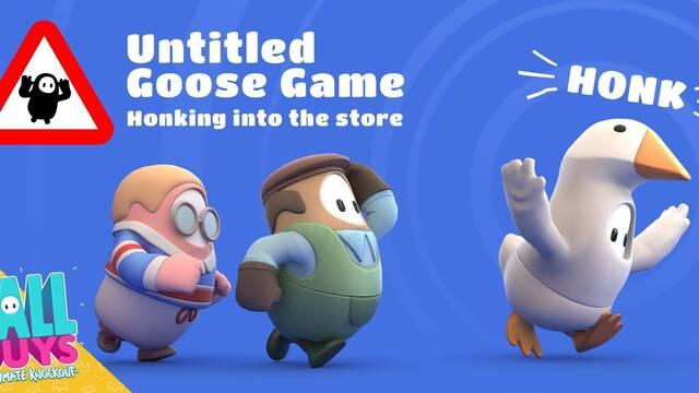 Fall Guys introduce el ganso de Untitled Goose Game