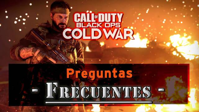 Call of Duty Black Ops Cold War: Preguntas frecuentes y resolución de problemas