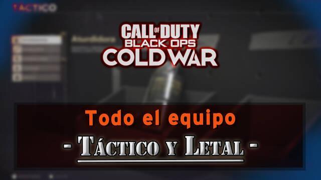 CoD: Black Ops Cold War: Todo el equipo táctico y letal