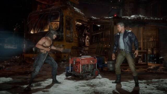 Rambo vs. Terminator en Mortal Kombat 11.