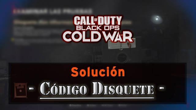 CoD Black Ops Cold War: Códigos del disquete y solución
