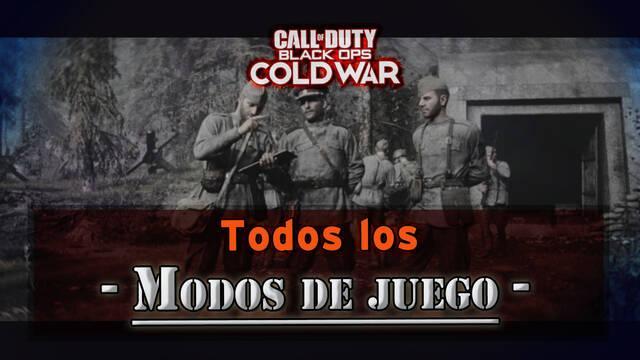 Todos los modos multijugador en COD Black Ops Cold War