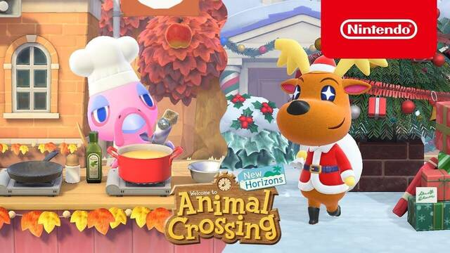 Actualización navideña de Animal Crossing: New Horizons.