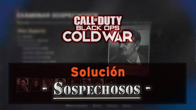 CoD Black Ops Cold War: Cómo descubrir a los 3 sospechosos y solución