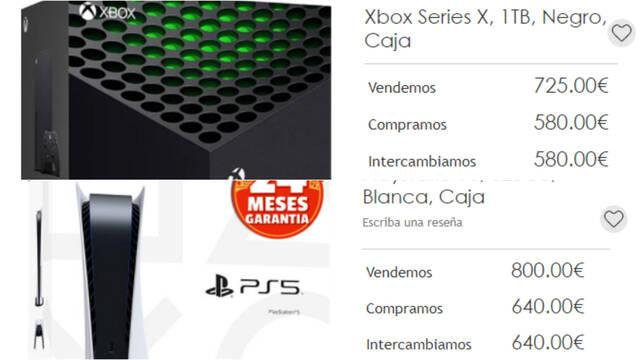 PS5 Xbox SEries X especulación reventa CEX