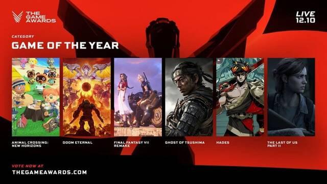 Todos los nominados a los premios The Game Awards 2020.
