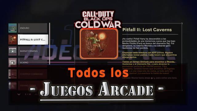 TODOS los Juegos Arcade de CoD Black Ops Cold War y cómo conseguirlos