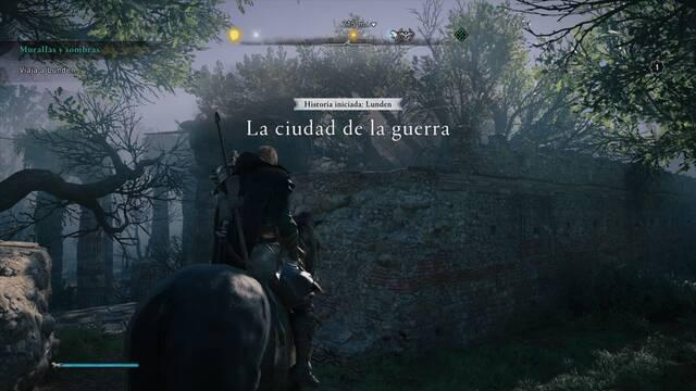 La ciudad de la guerra al 100% en Assassin's Creed Valhalla