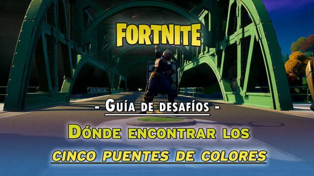 Fortnite: ¿dónde están los cinco puentes de colores?