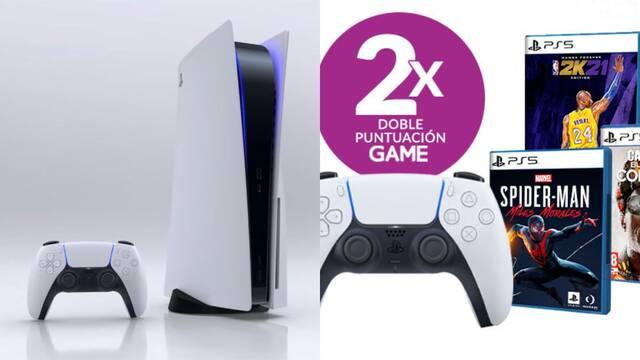 Doble de puntos en juegos y accesorios de PS5 en GAME.