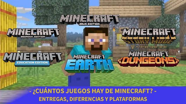 Minecraft - Cuántos juegos hay y diferencia