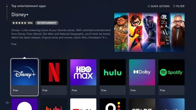 Apps multimedia de Xbox Series X/S.